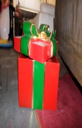 Gift Box With Green Ribbon (JR 2761) - Thumbnail 01