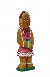 Ginger Bread Girl with Gift (JR 3125) - Thumbnail 01