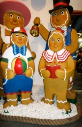 Ginger Bread Girl with Book (JR 3124) - Thumbnail 02