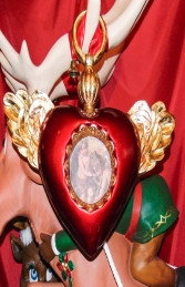 Christmas Decor Heart with Wings -Red (JR 1186-A) - Thumbnail 02