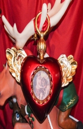 Christmas Decor Heart with Wings -Red (JR 1186-A) - Thumbnail 03