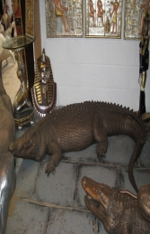 Crocodile in Bronze 12ft Long (JR 080123B)