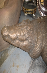 Crocodile in Bronze 12ft Long (JR 080123B)	 - Thumbnail 02