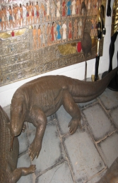 Komodo Dragon in Bronze 11ft Long (JR 080121B)