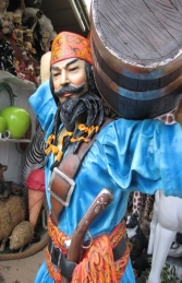 Chinese Pirate with Barrel 6ft (JR 2490) - Thumbnail 03