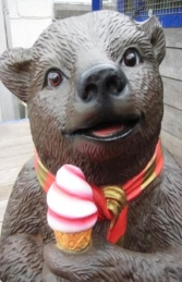 Grizzly Bear sitting with Ice Cream 2ft (JR 2727)	 - Thumbnail 03