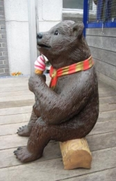 Grizzly Bear sitting with Ice Cream 2ft (JR 2727)	 - Thumbnail 02