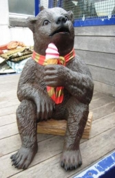 Grizzly Bear sitting with Ice Cream 2ft (JR 2727)	 - Thumbnail 01