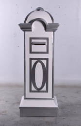 Mailbox- White and Silver (JR 0056)