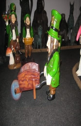 Leprechaun with Wheelbarrow (JR ST5162) - Thumbnail 01