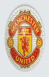 Manchester United Mosaic Football Sign (JR 2663)
