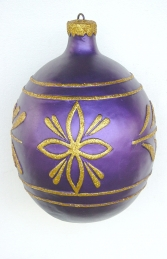Christmas Decor Ball Purple w/Gold 1.5ft (JR 1193-D)