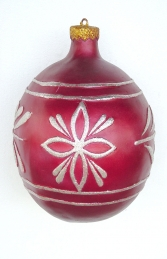 Christmas Decor Ball Red w/Silver 1.5ft (JR 1193-F)