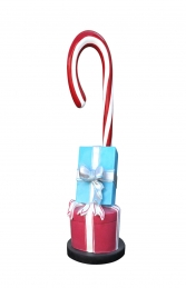 CANDY CANE WITH GIFT BOXES BASE - JR S-181