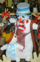 Snowman with Child and Bird 2.5ft (JR 1972)