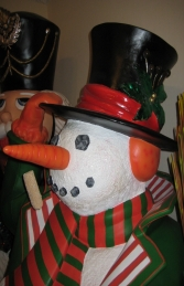 Snowman with Broom 6ft (JR 787009) - Thumbnail 02