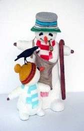 Snowman with Child and Bird 2.5ft (JR 1972) - Thumbnail 02