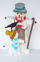 Snowman with Child and Bird 5ft (JR 1854)