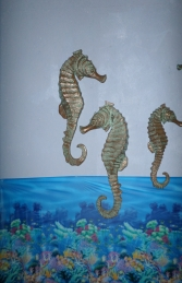 "Seahorse (set of 2) 34"" Hanging (JR 140056)"