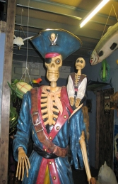 Skeleton Pirate with Monkey 6FT (JR 030719) - Thumbnail 03