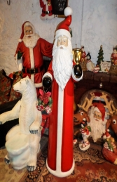 Skinny Santa with Bell and Wreath - 6ft (JR 160156) - Thumbnail 01
