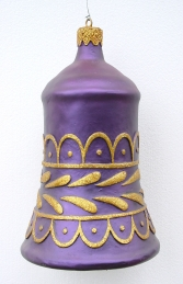 Christmas Decor Bell Purple w/Gold (JR 1189-E)