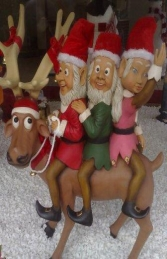 Funny Reindeer with 3 Elves (JR EE)