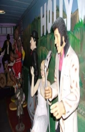 Elvis style Singer with Microphone 6ft (JR 667) - Thumbnail 03