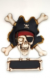 Pirate Wall Decor - Skull & Cross Bones (JR EW)