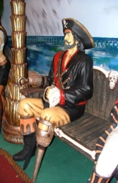 Seated Captain Hook Pirate life-size (JR 2447-A) - Thumbnail 01