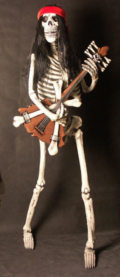 ROCK AND ROLL SKELETON - BASS GUITAR PLAYER - The Jolly ...