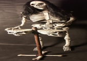 ROCK AND ROLL SKELETON - BONGO PLAYER