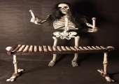 ROCK AND ROLL SKELETON - XYLOBONE PLAYER